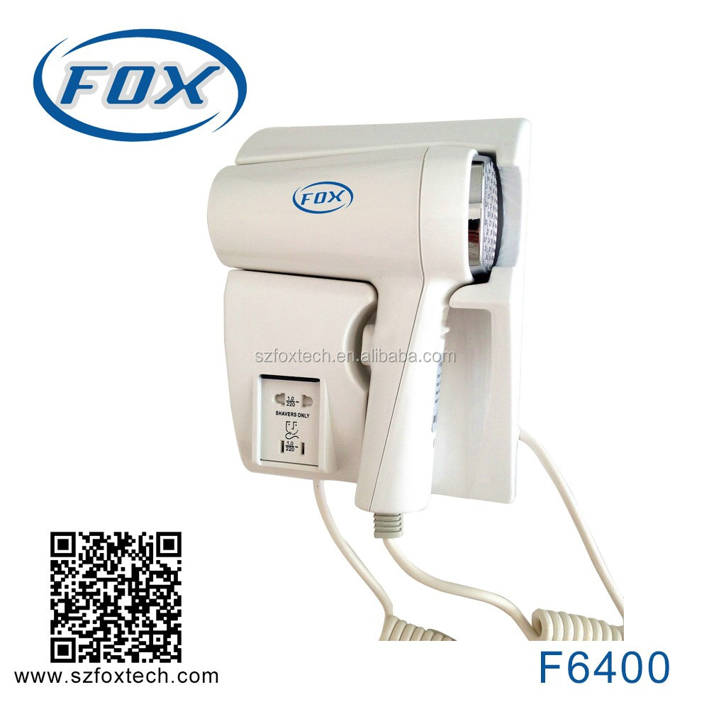 FOX professional wall mounting hair dryer hotel F6400