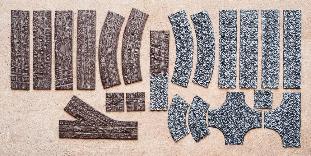XXL set of COBBLED ROAD and TANK ROAD Flames of War 15-28mm Wargaming Scenery Terrains