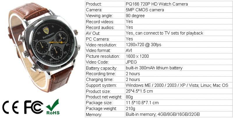 Hd Watch Style Cctv Camera Spy Camera 5mp Usb Gadget Spy Watch ...