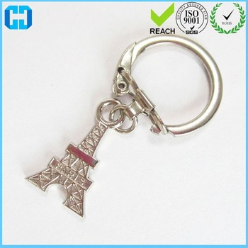 c5126bea39 Professional Manufacture Eiffel Tower Key Chain Locking Key Ring ...