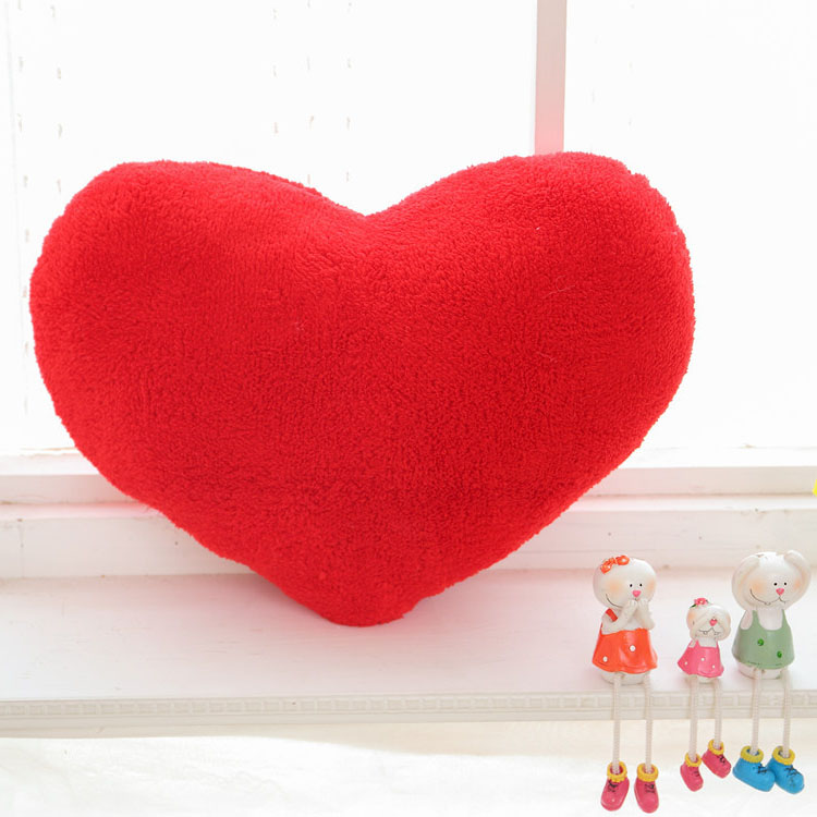 Custom Hot Sales stuffed plush love red heart shaped pillow