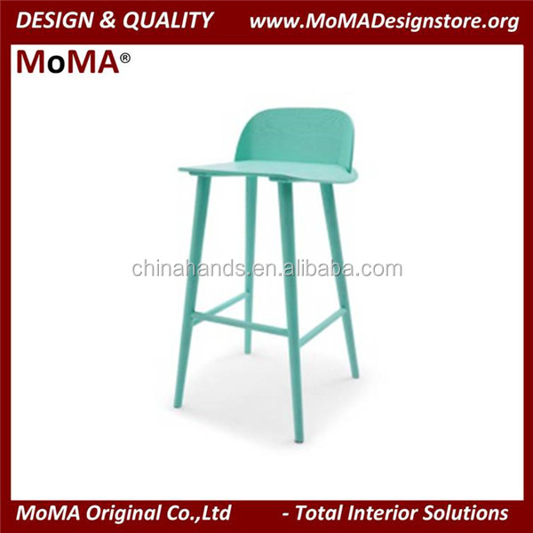 MA-MD110 Fancy Vintage Industrial Style Wood Nerd Barstool Design