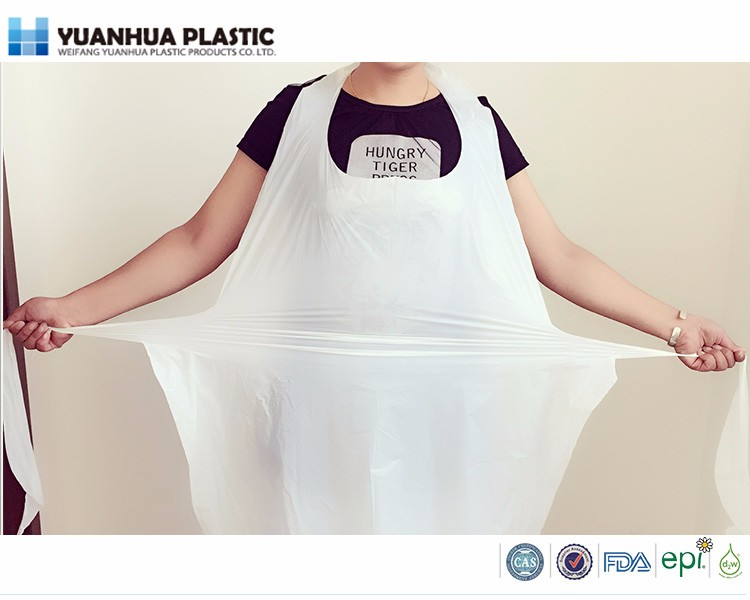 Disposable household plastic PE aprons