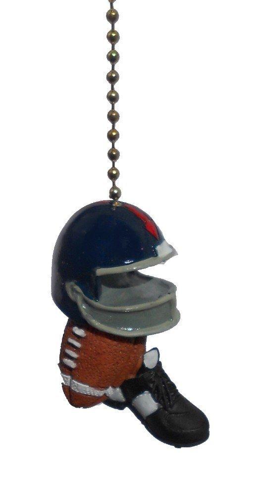 Football ball helmet cleats shoe sports decor CEILING FAN PULL light Chain ornament