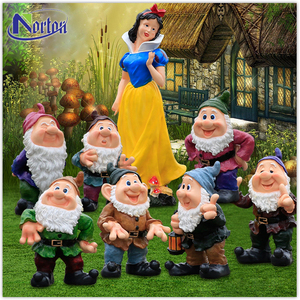 Outdoor decoration fiberglass snow white and the seven dwarfs statue NTFC-117Y