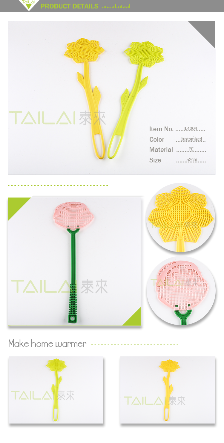 New design high quality practical PE plastic fly swatter