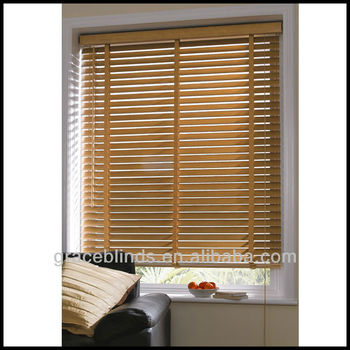 window treatment venetian blinds with 50mm real wood slats wide ladder tape cord tilt