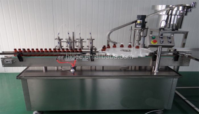 60 bottles per hour syrup and suspensions filling, capping and labeling machine line for pharmaceutical liquid