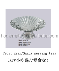 China manufacturer food grade metal crafts zinc alloy fruit plate KTV Hotel household used tableware and wedding decoration