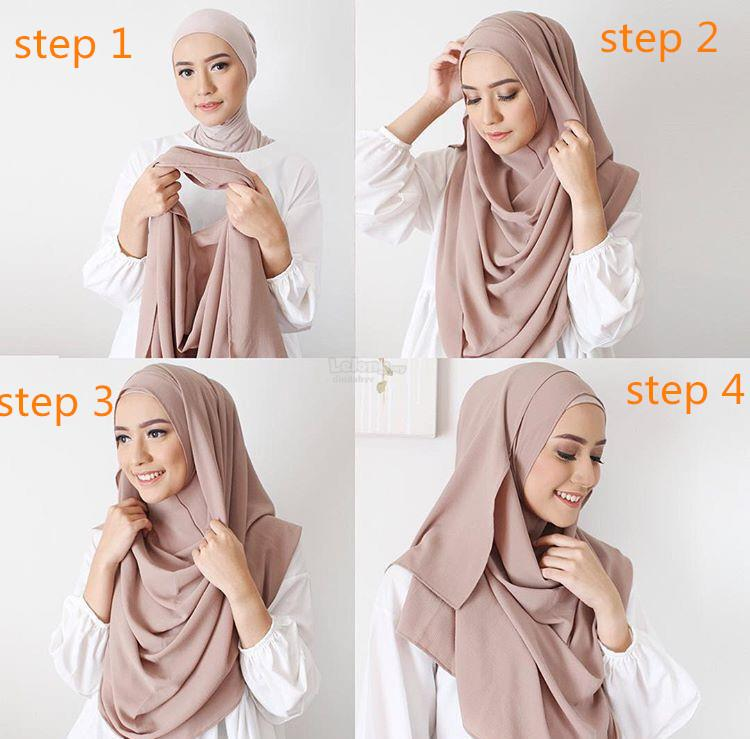 Tudung Indonesia Cotton Hijab Scarf Batik Wholesale Gamis Muslim