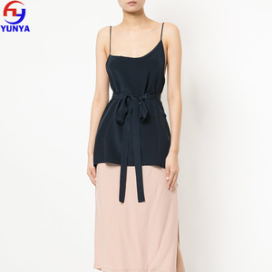 China factory fashion design sexy ladies summer asymmetric wrap cami top