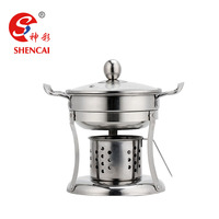 Shabu Stainless Steel Alcohol Hot Pot Alcohol Stove Food Warmer Hot Pot