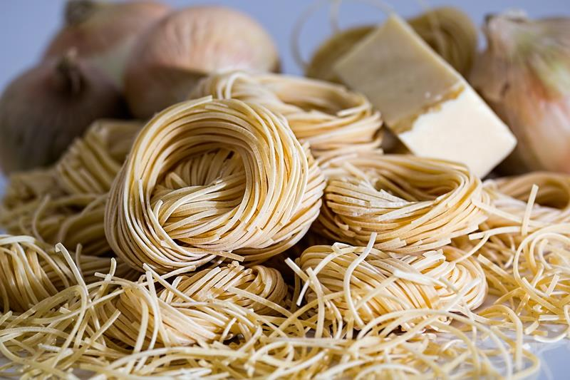 Canvas Prints Stretched Framed Fine Art Giclee Artwork For Wall <font><b>Decor</b></font> Food Eating Pasta <font><b>Italian</b></font> Durham Wheat Meal Uncooked