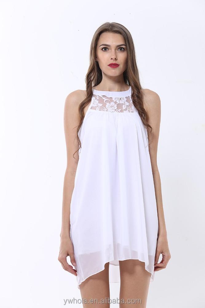 ltimo vestido diseos al por mayor moderno simple cuello de encaje gasa dama de la moda
