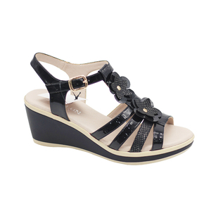 New styles OEM/ODM pu eva summer wedge flat sandals lady sandals women