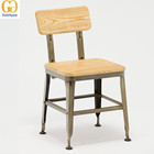 Industrial vintage lyon restaurant wooden dining chair