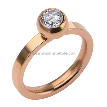 Wholesale Fashion Big Stone Ring Rose Gold Plated Jewelry For Women