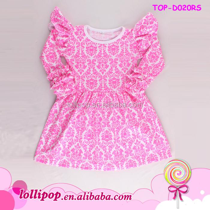 0731d323158 Latest children high low tops black long Sleeve cuff Ruffle Dress tunic  Frills Baby Frock Design