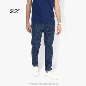 China Suppliers Men Latest Sweat Pants Water Base Printing Jogger Pants Knit Fabric