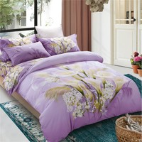 4pcs 100% cotton printed home king indian cotton bed cover