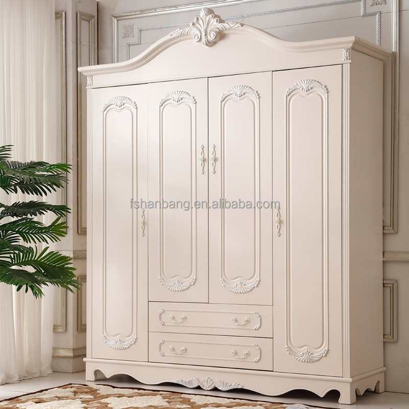 Modern High Quality Fancy White Bedroom Wardrobe For Whole