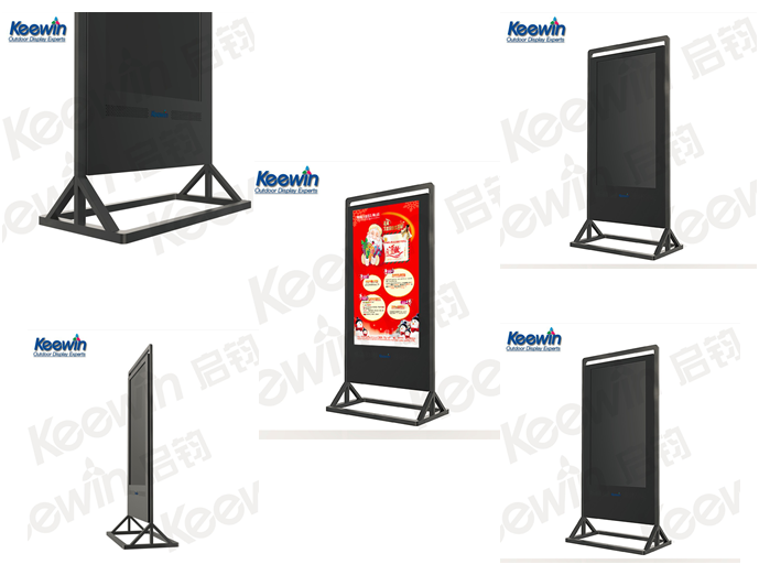 Ultra-thin Keewin Display digital poster with 55inch LCD double screen 3G modem inside