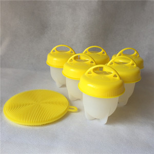 2018 NEW Hot Sell Egglettes- Green Top Get Hard Boiled Eggs Without Shell Egg Cooker Boiler 6 Pc Set tool