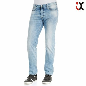 5388d6d5 fashion men slim fit jeans light blue faded partial low rise denim jeans  wholesale JXQ886