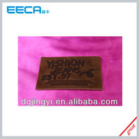 Thick material leather tag for jeans