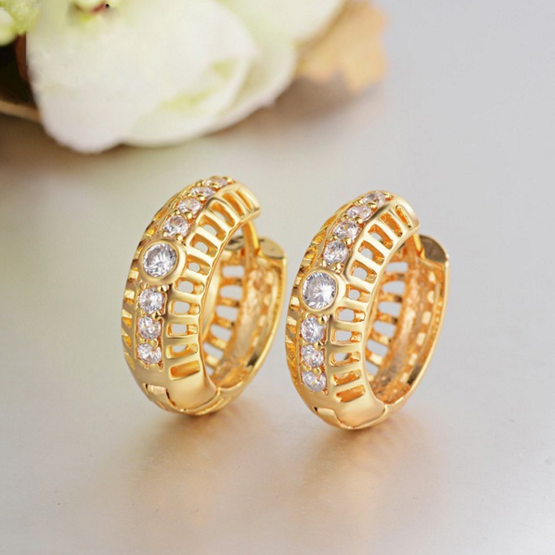 Fashion Latest Dubai Gold Jewelry Earrings Tops Design Product On Alibaba