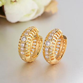 Fashion Latest Dubai Gold Jewelry Earrings Tops Design