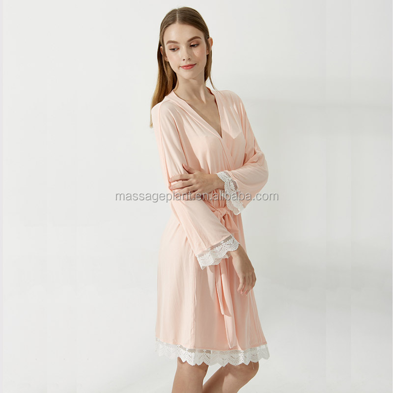 2017 New Design Satin Sexy Cotton Lace Robe Rayon Cotton Robes - Buy ... 9ce2f05ee