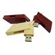 Factory price top selling swivel usb flash drives 16gb wooden usb pen drives