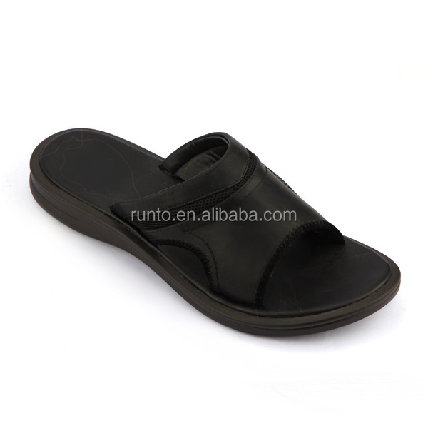 2016 High quality mature Italian style mens leather sandals summer mens slipper and sandals