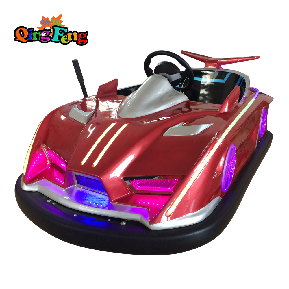 Qingfeng 2017 carton fair  4 colours bumper car  outdoor equipment  drift battery bumper car sale for  kids