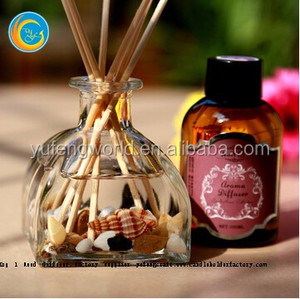 luxury aroma scents ceramic reed diffuser glass bottle for gift