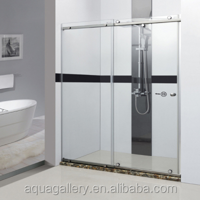 Modern Simple Tempered Glass Sliding Shower Cabins