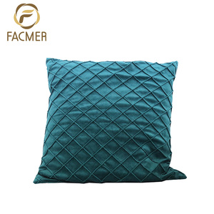 High Quality Simple Design Fancy Pintuck Velvet Cushion Cover
