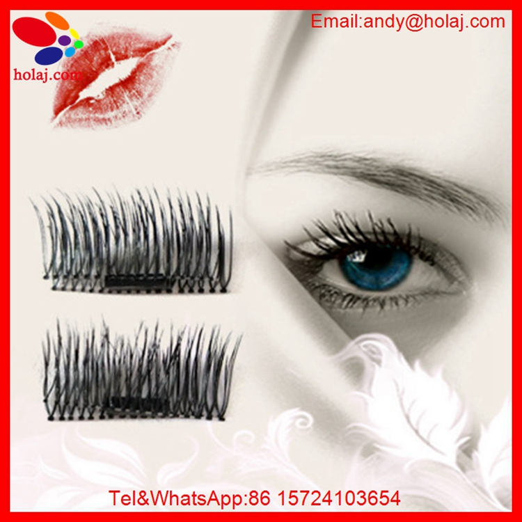In stocks! HOT 4 Pcs/Pair Full Strip 3D Magnetic Eyelashes Handmade False Eyelash Cosmetic Eye Makeup Eye Lashes Extension Tools