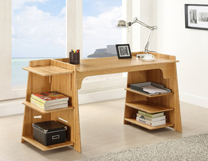Easy tool-free assembly bamboo office craft desk