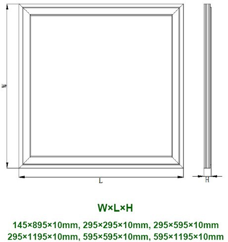 Surface Mounted,2x2 Led Drop Ceiling Light Panels,Battery Operated ...