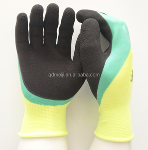 Safety gloves double palm latex foam durable soft industry work gloves latex foam safety hand general gloves