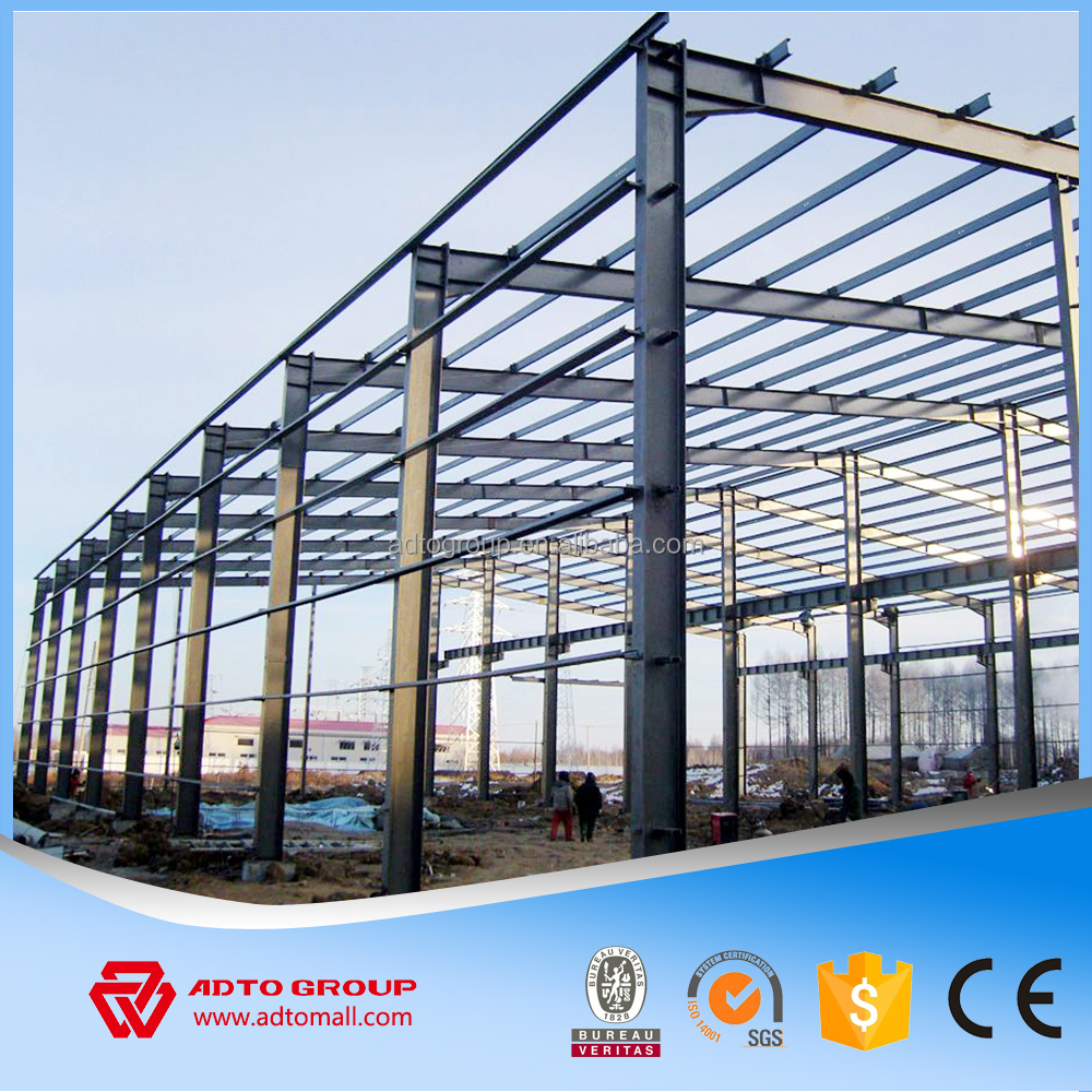 Light Design Steel Beam Structure Prefab Two Story Buildings Workshop Car Garage Shopping Mall Prefabricated Building Wholesale