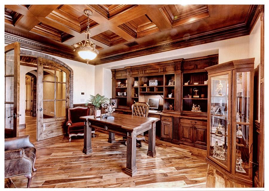 Personalizado Sala De Estudio/oficina Caoba/cereza/roble/nogal Negro ...