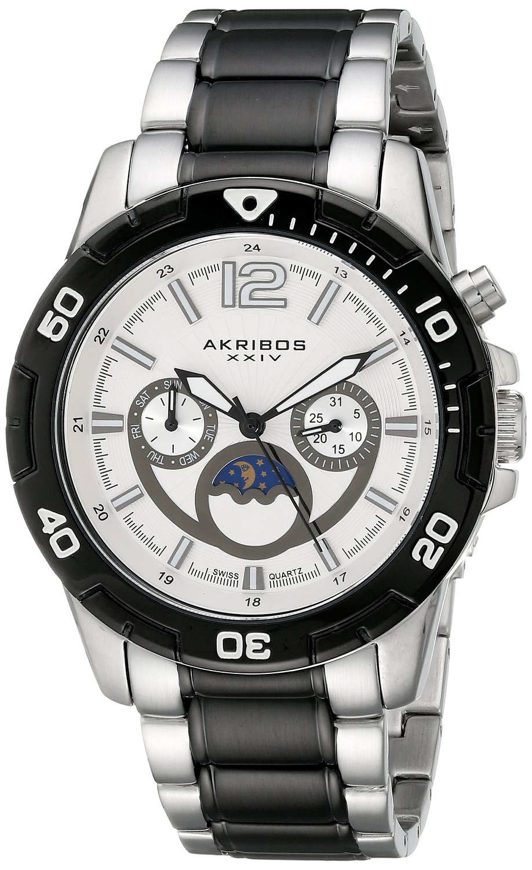 Akribos XXIV Men's AK574TTB Conqueror Swiss Quartz Divers Multi-function Watch