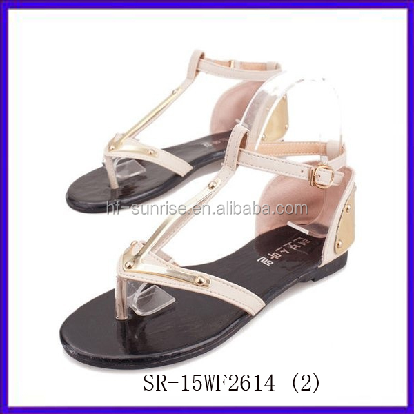 Sr-15wf2612 (2) New Stylish Fashion Flat Sandals For Ladies ...