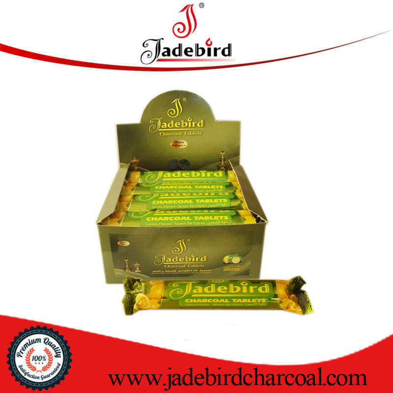 Star shape lemon flavor king quality charcoal for shisha kohle