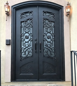 High quality trend style wrought iron front door price