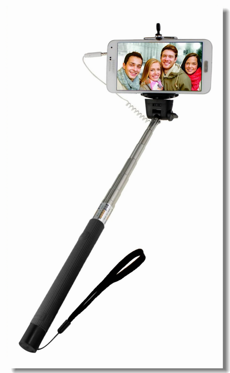 monopod selfie stick cable extendable monopod wired remote control selfie tri. Black Bedroom Furniture Sets. Home Design Ideas