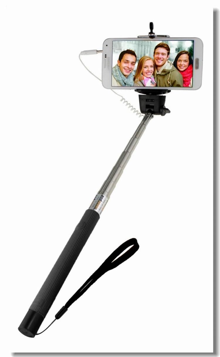 monopod selfie stick cable extendable monopod wired remote control selfie tri. Black Bedroom Furniture Sets. Home Design Ideas